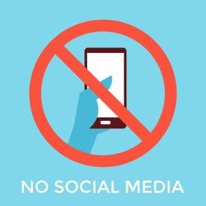 geen social media op werkvloer